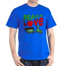Peace Love Motor Scooter T-Shirt