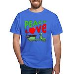 Peace Love Motor Scooter Dark T-Shirt