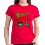 Peace Love Motor Scooter Women's Dark T-Shirt