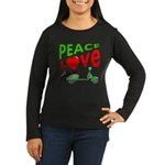 Peace Love Motor Scooter Women's Long Sleeve Dark