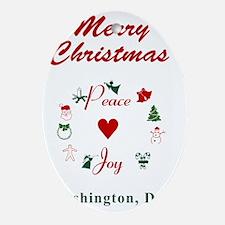WashingtonDC_5x7_Christmas Stocking_ Oval Ornament