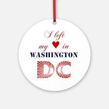 WashingtonDC_10x10_apparel_LeftHear Round Ornament