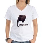 elephant5 Women's V-Neck T-Shirt