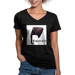 elephant5 Women's V-Neck Dark T-Shirt