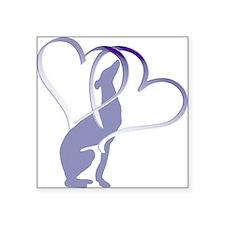 Greyhound Hearts Square Sticker