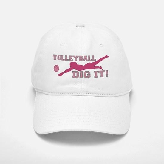 Volleyball Dig It pink Baseball Baseball Cap