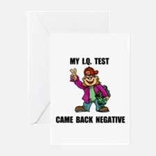 NEGATIVE IQ TEST Greeting Cards (Pk of 10)