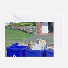 Residential recycle containers. Greeting Card