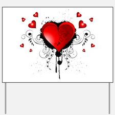 Beautiful heart Yard Sign