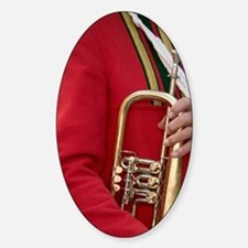 Brass band member in traditional Ti Decal