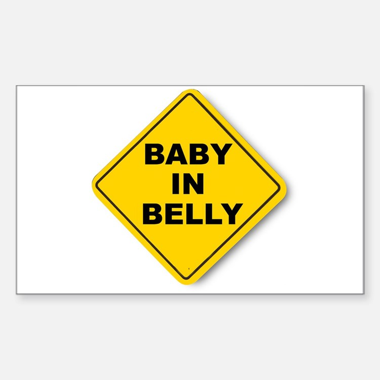 Baby in Belly Rectangle Decal