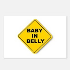 Baby in Belly Postcards (Package of 8)
