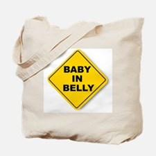 Baby in Belly Tote Bag