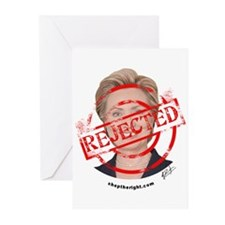 Reject Hillary Clinton Greeting Cards (Package of