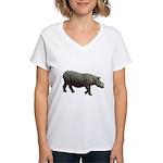 sumatran rhino Women's V-Neck T-Shirt