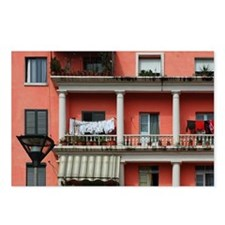 The town's facades coulor Postcards (Package of 8)