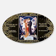 1 A H LEYENDECKER KISS BFLY ADA DEL Sticker (Oval)
