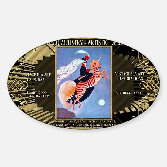 1 A H ADAD PLANK -ZebraUni-FINAL Sticker (Oval)