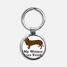 weiner4 Round Keychain
