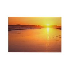 Combers Beach Sunset, Pacific Rim Rectangle Magnet