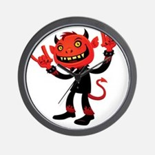 Heavy Metal Devil Wall Clock