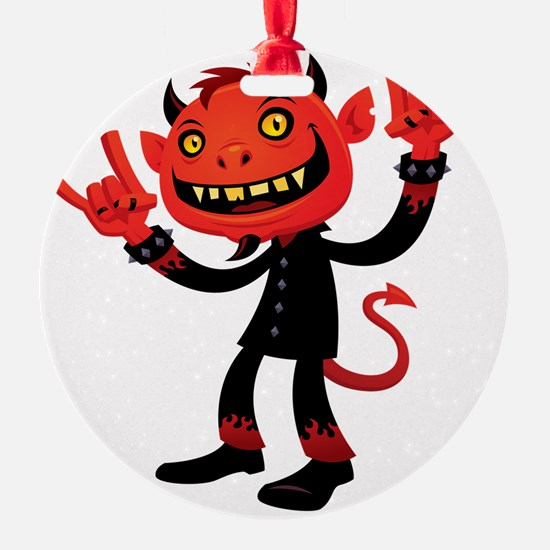 Heavy Metal Devil Ornament