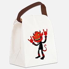 Heavy Metal Devil Canvas Lunch Bag