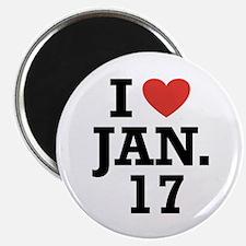 """I Heart January 17 2.25"""" Magnet (100 pack)"""