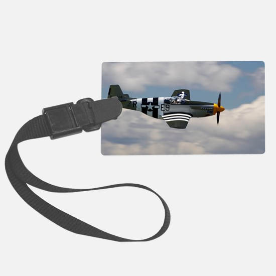 P 51 Mustang Luggage Tag