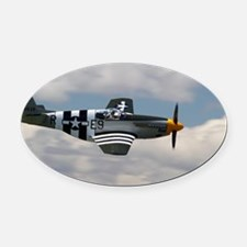 P 51 Mustang Oval Car Magnet