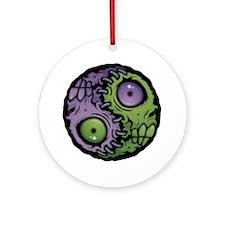 Zombie Yin-Yang Round Ornament