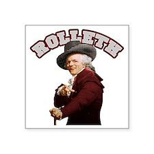 "Rolleth Square Sticker 3"" x 3"""