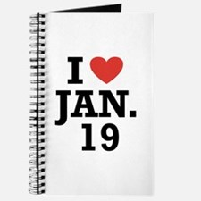 I Heart January 19 Journal