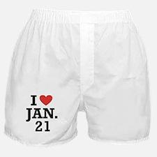 I Heart January 21 Boxer Shorts