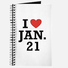 I Heart January 21 Journal