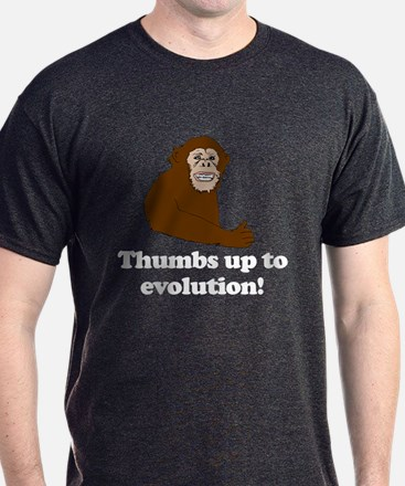 Thumbs up to Evolution! Charcoal Grey T-Shirt