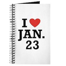 I Heart January 23 Journal