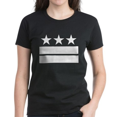 Three Stars and Two Bars Women's Dark T-Shirt
