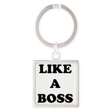 2000x2000likeaboss Square Keychain