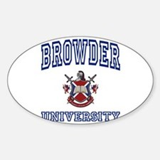 BROWDER University Oval Decal