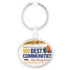 Growing up in an Oval Keychain
