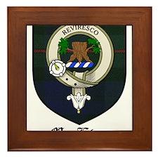 MacEwan Clan Crest Tartan Framed Tile