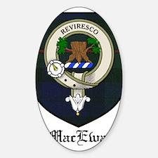 MacEwan Clan Crest Tartan Oval Decal