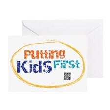 putting kids first Greeting Card
