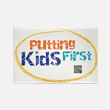 putting kids first Rectangle Magnet
