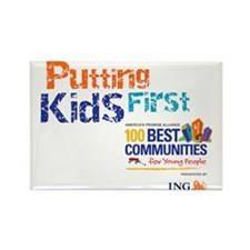 putting kids first2 Rectangle Magnet