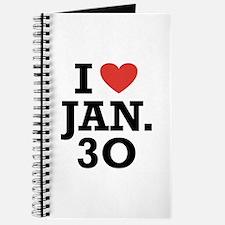 I Heart January 30 Journal