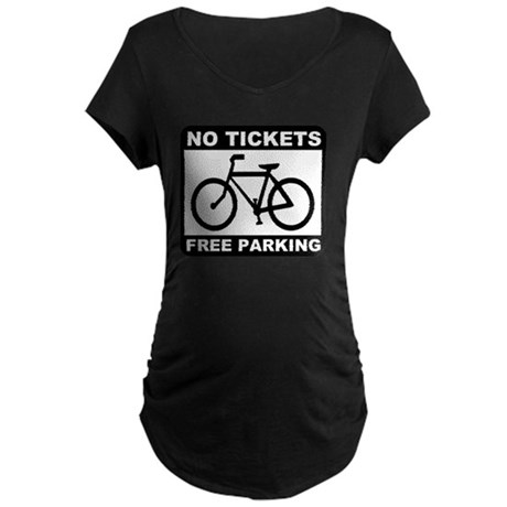 Bike No Tickets Black Maternity Dark T-Shirt