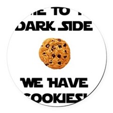 Dark Side Cookies Black Round Car Magnet