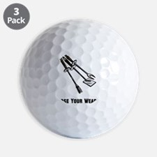 Choose Grill Weapon Black ONLY Golf Ball